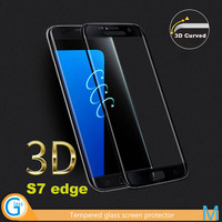 3D Curved Edge Mobile Phone Use Glass Guard for Samsung Galaxy S7 edge