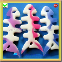 fish bone shape silicone earphone cable organizer for phones