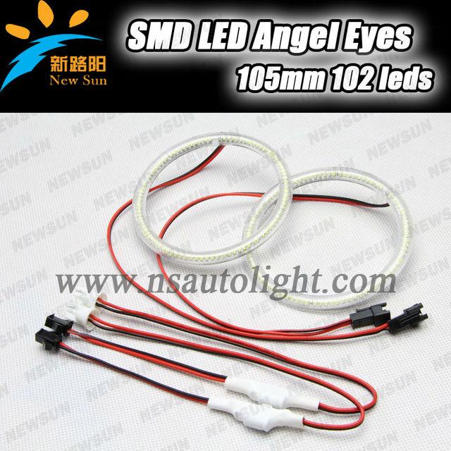High Power 105mm smd 3014 led angel eyes for car headlight,smd led angel eye halo ring for honda crv 03/07 smd led angel eye kit