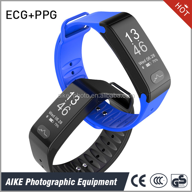 Blood Pressure Heart Rate Wristband Fitness tracker - Pulsometros ECG&PPG Monitoring Smart Watch Real time Call SMS for Android