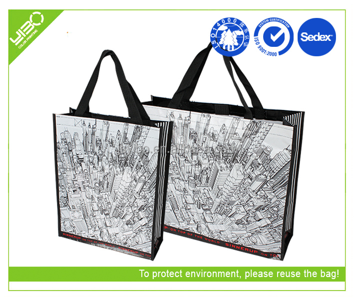 thin laminated non woven tote bag