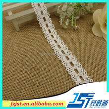 100% cotton polish ivory crochet lace trim cotton material