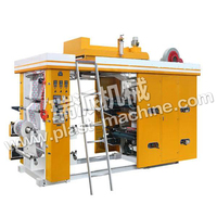 High speed flexo type 2,4,6 color plastic bag film flexographic printing machine
