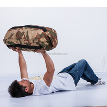 best seller durable camouflage muscle building fitness sandbags with rubber handle