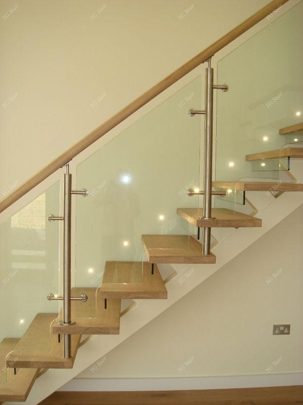 Baratos casa interior y exterior de madera de la escalera de metal ...