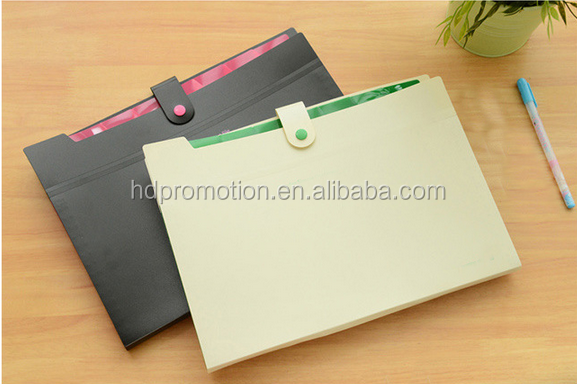 office cute A4 file folder loose-leaf travel pad folio document