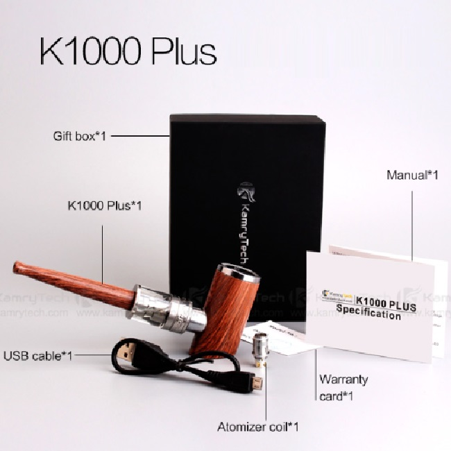 2016 new hot selling Kamry k1000 plus e pipe 0.5ohm 0-35W big vapor K1000 plus