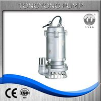 10hp submersible water non clogging marine pumps electric sewage mixed pump