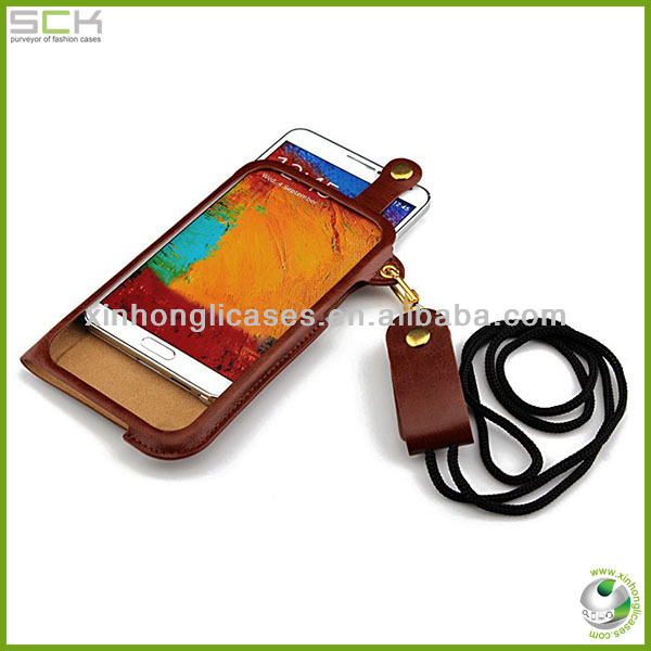 Hot sell Luxury leather back cover case for samsung galaxy note 3