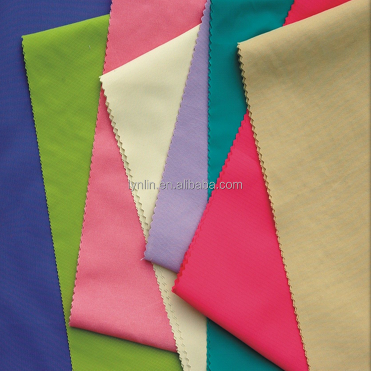 108gsm hot sale plain weaving pu clear coated cloth material fabric