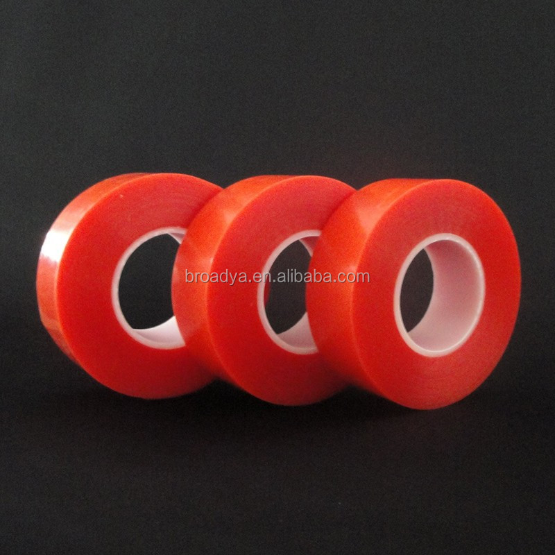 ISO9001 160C Heat Resistant Clear Double Sided Self Adhesive Polyester Plastic Film Roll
