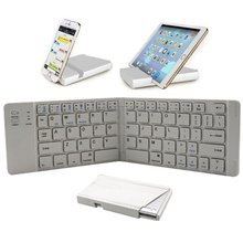 Mini Ultra-Thin Wireless Foldable Wireless Keyboard With Usb Port For Ipad And Iphone