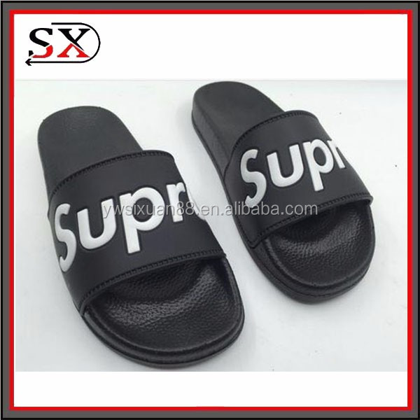 Wholesale men pvc sandals custom slides