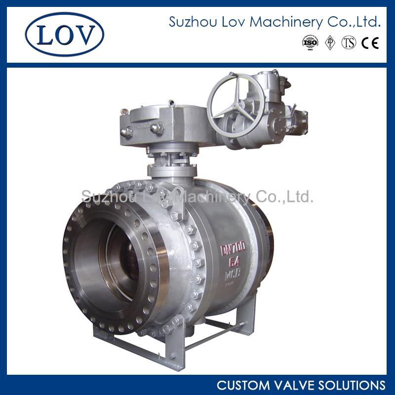 Tailor Made Hot Sale Trunnion Mounted Gear Operation 3 PC Flange Bolted Bonnet Ball Valve