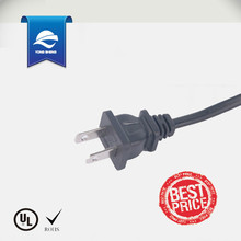 America 2 pin ac power cord plug UL approval with C7