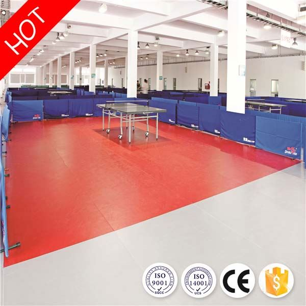 Customized professional health wearable pvc table tennis 4.5mm floor with ce/iso