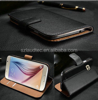 New Coming Real Leather Flip Case Wallet Cover For Samsung Galaxy S7