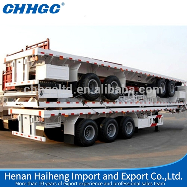 LOW PRICE blade trailer, tri axle container semi trailer, container carrier semi trailer