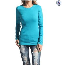 Wholesale Slim Fit Women Long Sleeve Plain T-Shirts