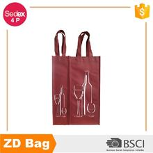 High-quality non woven material 4 bottles wine gift bag