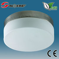 White Glass 6W/10W/16W LED flush round glass ceiling mounted light decorative
