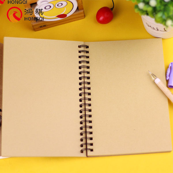 S143 A4/A5 Kraft paper cover blank Spiral notebook