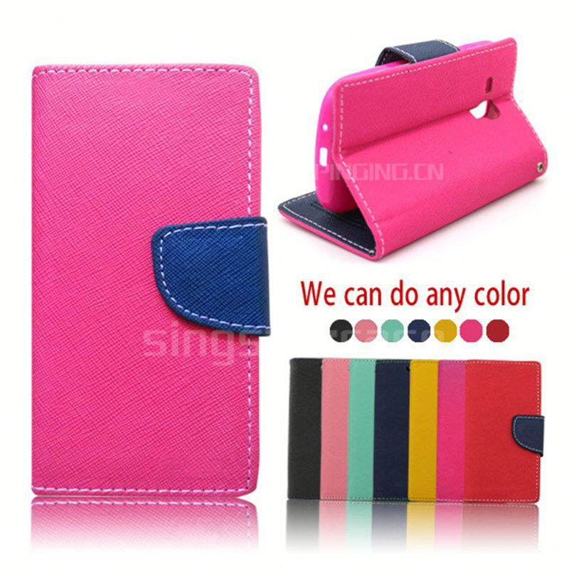 China Manufacturer wallet leather mobile phone case cover for Intex Aqua <strong>Q1</strong>