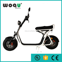 harley style electric moped scooter with big wheel