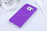 Fatory Price Soft TPU Cellphone Case Translucent Matte two in one For S6 EDGE