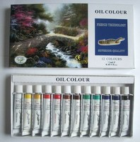 12 colors oil paint set,oil paint by numbers,non-toxic paint