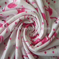 Polyester 30S poly spun knitted fabric stretch for garment