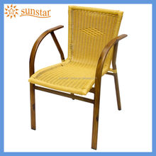 Outdoor Garden Chair / Aluminium Rattan Armchair bamboo look like L81704