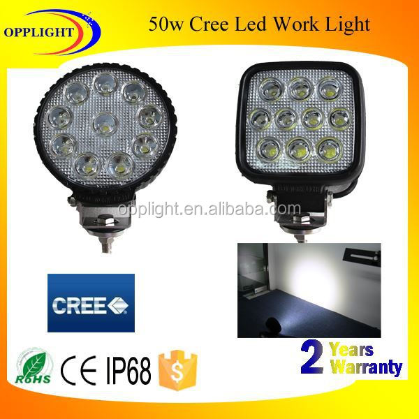 Car lighting 50W led work light work light led for vehice SUV 4x4 accessory motorcycle part