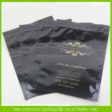 Hot Sale OEM Cutomized Black Wig Bags For Hair Packaging