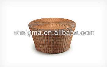 2017 Trade Assurance most popular outdoor pvc rattan modern round nesting coffee table furniture