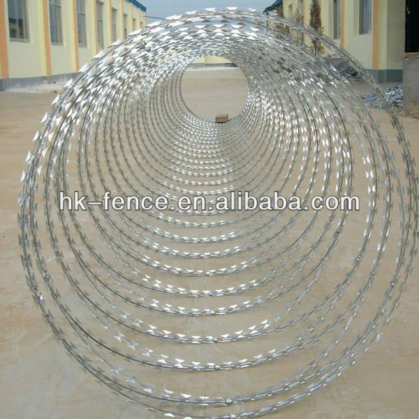 BTO-22 900mm Galvanized Razor Barbed Wire Concertina Razor Wire