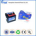 Korean car battery 12v 62ah maintenance free car auto battery