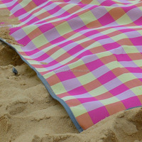 Colorful Beach comber folded beach cushion outdoor Sand free beach mat sand mat camping manufacturer