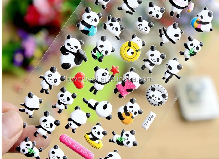 Wholesale panda foam sticker CUSTOMISED