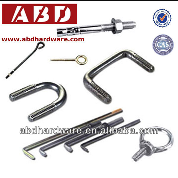 l type anchor bolt,anchor bolt for furniture,zinc plated anchor bolt