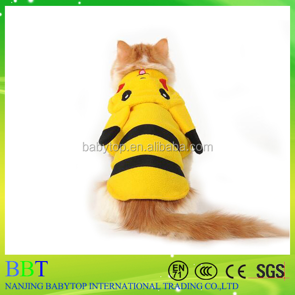 2016 New Cartoon Pokemon Go Dog Clothes Suit Pet Dog Puppy Cat Clothes Coat Hoodies Jumpsuit
