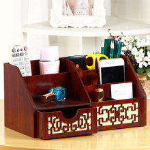 Return Gifts New Cherry Wood Desk Organizer