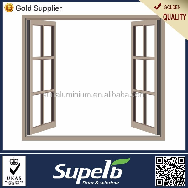 Picture aluminum windows swing type with customized glass