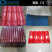 Factory direct sell different types of roofing sheets/color coating metal roofing sheet