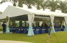 Sunway Customized 16x22 Marquee Party Tent Canvas Dome Tents