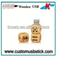 wooden usb flash drive funny dice