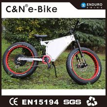 New model 26 inch alloy steel fat tire ski snow bike electric bicycle