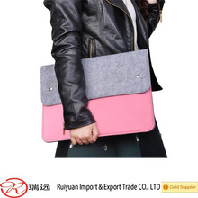 New product Breifcase style high quality felt laptop case for girls