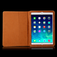 Retro Genuine Leather Book Case for Ipad 6/ iPad Air 2 Smart Cover Case