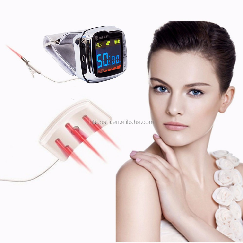 2016 Control blood pressure 650nm soft laser healthy natural dropshipping smart watch
